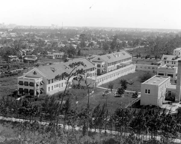Aerial of Jackson Memorial Hospital, c. 1925 (State Archives of Florida)